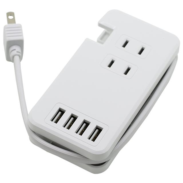 USBポート付きモバイルタップType-A×4/AC×3